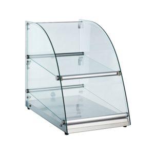 70L Curve Glass Food Display Cabinet Showcase