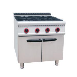 Restaurant 4 Burners Range Cooker With Cabinet(700 Series)