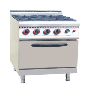 Hotel Four Burners Cook Stove With Gas Oven(700 Series)