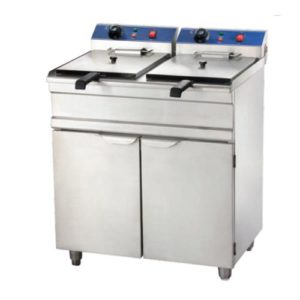 Double Tanks Electric Fryer with Cabinet 15+15Liters(EFB)