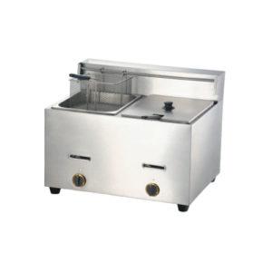 Double Tanks Gas Fryer 10+10Liters