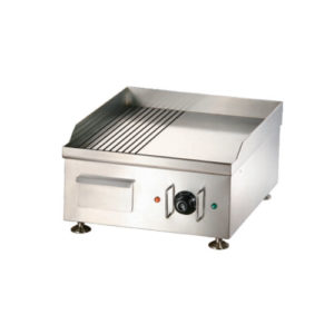 12mm Electric Griddle With Half Flat & Half Grooved