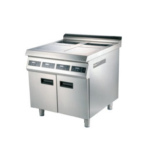 Commercial Induction Cooker With Four Burner & Cabinet