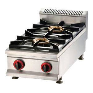 Commercial Counter Top Gas Stove With Splashback