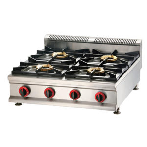 Commercial Gas Stove 4 Burners With Splashback