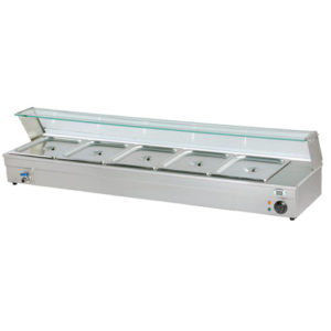 Electric Counter Top Bain Marie With Glass